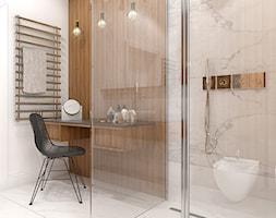Wnętrze domu jednorodzinnego w Konstantynowie Łódzkim - Średnia łazienka w domu jednorodzinnym, sty ... - zdjęcie od Tu architekci - Homebook