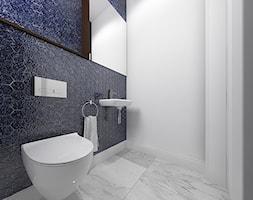 Wnętrze domu jednorodzinnego w Konstantynowie Łódzkim - Mała biała łazienka bez okna, styl nowoczes ... - zdjęcie od Tu architekci - Homebook