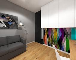 Wnętrze mieszkania w Warszawie - Biuro, styl nowoczesny - zdjęcie od Tu architekci - Homebook