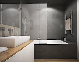 Wnętrze mieszkania w Warszawie - Średnia łazienka w bloku bez okna, styl nowoczesny - zdjęcie od Tu architekci - Homebook