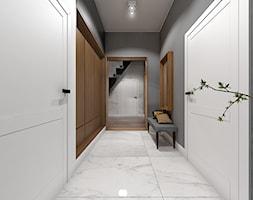 Wnętrze domu jednorodzinnego w Konstantynowie Łódzkim - Średni szary hol / przedpokój, styl skandynawski - zdjęcie od Tu architekci