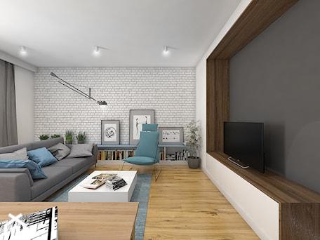 Aranżacje wnętrz - Salon: Wnętrze mieszkania na Teofilowie - Duży salon, styl skandynawski - Tu architekci. Przeglądaj, dodawaj i zapisuj najlepsze zdjęcia, pomysły i inspiracje designerskie. W bazie mamy już prawie milion fotografii!