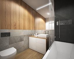 Wnętrze mieszkania w Warszawie - Mała łazienka na poddaszu w bloku w domu jednorodzinnym bez okna, ... - zdjęcie od Tu architekci - Homebook