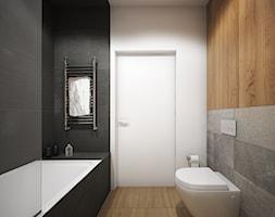 Wnętrze mieszkania w Warszawie - Mała szara łazienka w bloku w domu jednorodzinnym, styl nowoczesny - zdjęcie od Tu architekci - Homebook