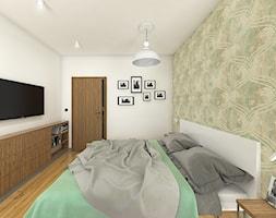 Wnętrze mieszkania na Teofilowie - Duża kolorowa sypialnia małżeńska, styl skandynawski - zdjęcie od Tu architekci