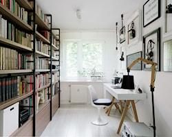 Biuro z biblioteczką - aranżacje, pomysły, inspiracje