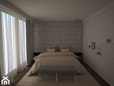 Aranżacje wnętrz - Sypialnia: Nowoczesna sypialnia - AM Design Studio. Przeglądaj, dodawaj i zapisuj najlepsze zdjęcia, pomysły i inspiracje designerskie. W bazie mamy już prawie milion fotografii!