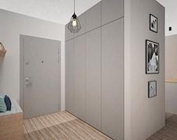 PASTELOVE POZNAŃ - Średni szary hol / przedpokój, styl nowoczesny - zdjęcie od AM Design Studio - Homebook