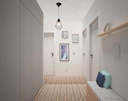 PASTELOVE POZNAŃ - Średni biały hol / przedpokój, styl nowoczesny - zdjęcie od AM Design Studio - Homebook