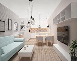 PASTELOVE POZNAŃ - Salon, styl nowoczesny - zdjęcie od AM Design Studio - Homebook