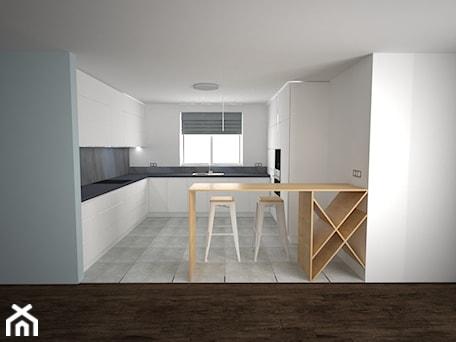Aranżacje wnętrz - Kuchnia: UZARZEWO - Kuchnia, styl minimalistyczny - AM Design Studio. Przeglądaj, dodawaj i zapisuj najlepsze zdjęcia, pomysły i inspiracje designerskie. W bazie mamy już prawie milion fotografii!