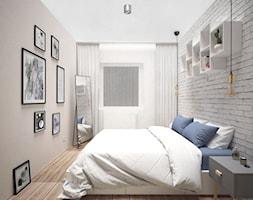 PASTELOVE POZNAŃ - Średnia beżowa biała sypialnia małżeńska, styl nowoczesny - zdjęcie od AM Design Studio - Homebook
