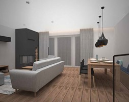 SUCHY LAS - Salon, styl nowoczesny - zdjęcie od AM Design Studio - Homebook
