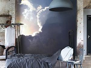 SYPIALNIA - Duża beżowa szara brązowa sypialnia małżeńska - zdjęcie od PIXERS