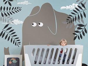 POKÓJ DZIECKA - Mały szary pastelowy niebieski kolorowy pokój dziecka dla chłopca dla malucha - zdjęcie od PIXERS