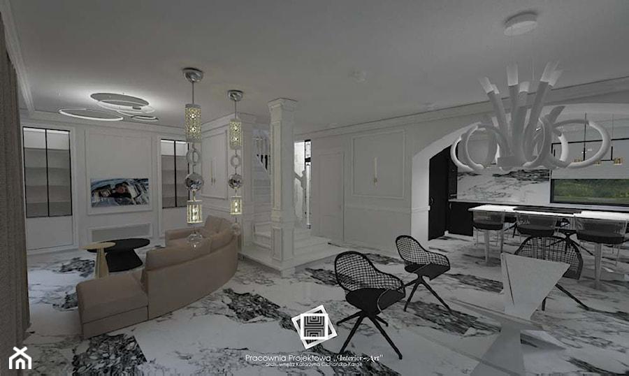 """Rezydencja Strzegom - Jadalnia, styl art deco - zdjęcie od Pracownia Projektowa """"Interior-Art"""""""