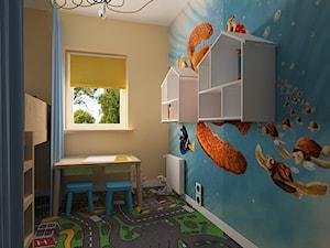 """Mieszkanie na Suwalskiej - Średni beżowy niebieski pokój dziecka dla chłopca dla dziewczynki dla malucha, styl skandynawski - zdjęcie od Pracownia Projektowa """"Interior-Art"""""""
