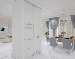 """Projekt wnętrz domu w Kaliszu - Kuchnia, styl klasyczny - zdjęcie od Pracownia Projektowa """"Interior-Art"""" - Homebook"""