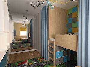 """Mieszkanie na Suwalskiej - Mały biały kolorowy pokój dziecka dla chłopca dla malucha, styl skandynawski - zdjęcie od Pracownia Projektowa """"Interior-Art"""""""