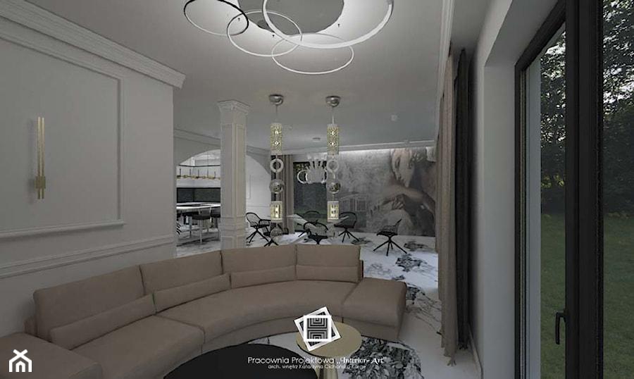 """Rezydencja Strzegom - Salon, styl art deco - zdjęcie od Pracownia Projektowa """"Interior-Art"""""""