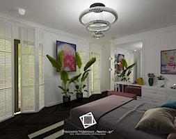 """Rezydencja Strzegom - Sypialnia, styl art deco - zdjęcie od Pracownia Projektowa """"Interior-Art"""" - Homebook"""