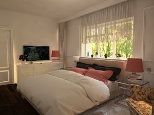 Stylowa sypialnia w kamienicy
