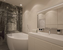 """Litomska, Wrocław - Mała szara łazienka w bloku w domu jednorodzinnym bez okna, styl nowoczesny - zdjęcie od Pracownia Projektowa """"Interior-Art"""""""