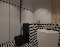 """Dom na Maślicach - Mała łazienka w bloku w domu jednorodzinnym, styl nowoczesny - zdjęcie od Pracownia Projektowa """"Interior-Art"""""""