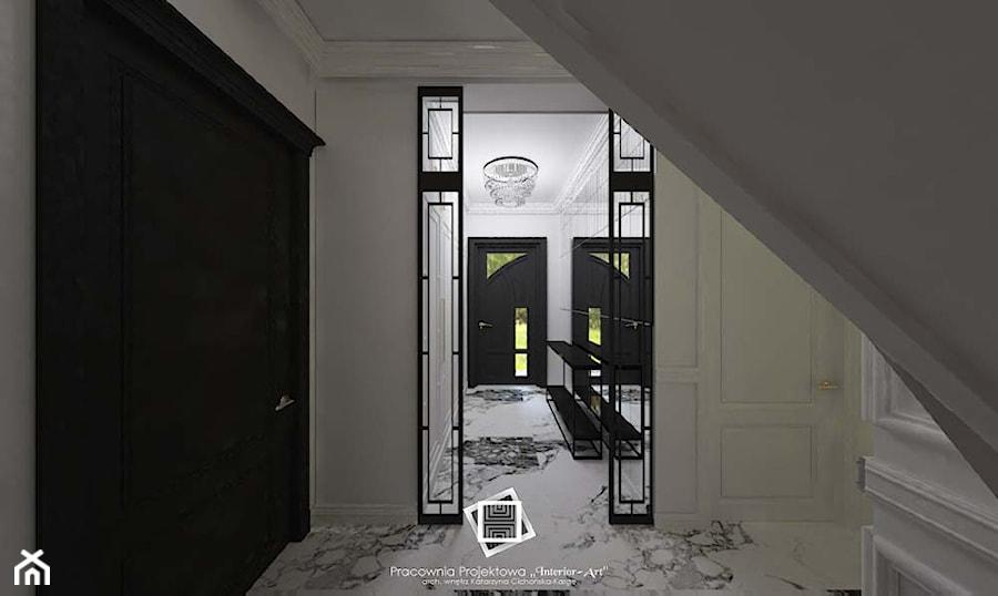 """Rezydencja Strzegom - Hol / przedpokój, styl art deco - zdjęcie od Pracownia Projektowa """"Interior-Art"""""""