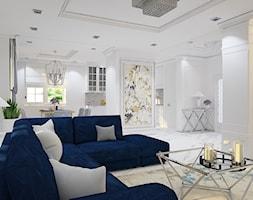 """Projekt wnętrz domu w Kaliszu - Salon, styl klasyczny - zdjęcie od Pracownia Projektowa """"Interior-Art"""" - Homebook"""