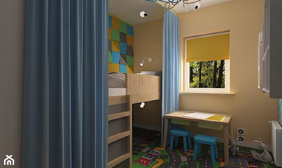 """Mieszkanie na Suwalskiej - Mały pokój dziecka dla chłopca dla dziewczynki dla malucha, styl skandynawski - zdjęcie od Pracownia Projektowa """"Interior-Art"""""""
