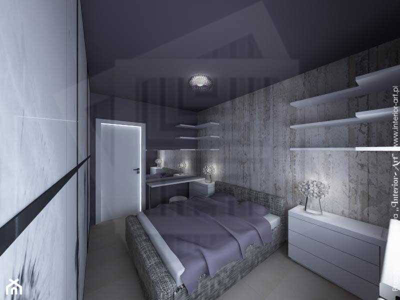 sypialnia w fiolecie rozb�yskach kryszta�u zdjęcie od