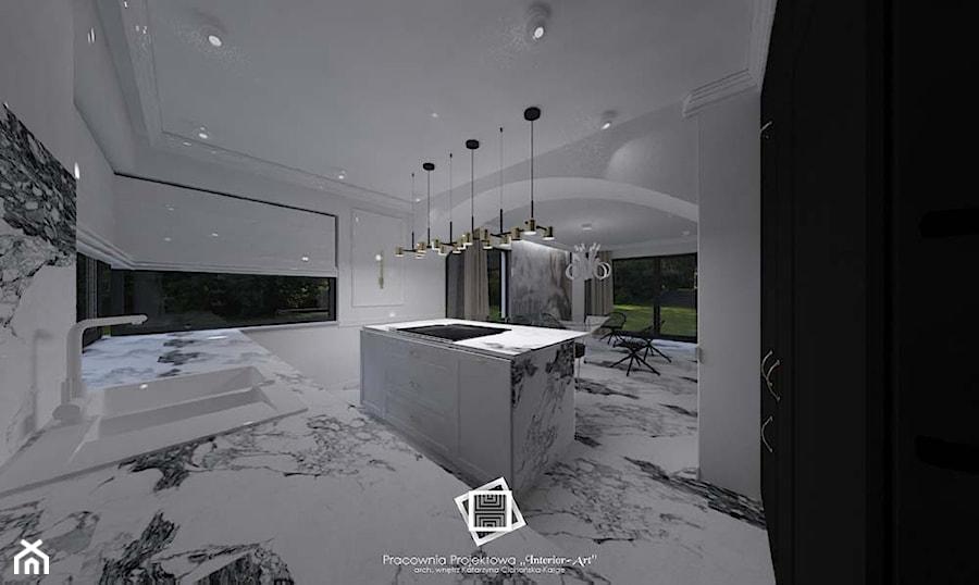 """Rezydencja Strzegom - Kuchnia, styl art deco - zdjęcie od Pracownia Projektowa """"Interior-Art"""""""