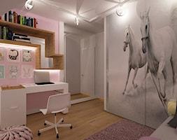 """Dom w Lubinie 2 - Mały pokój dziecka dla dziewczynki dla ucznia dla malucha dla nastolatka, styl nowoczesny - zdjęcie od Pracownia Projektowa """"Interior-Art"""""""