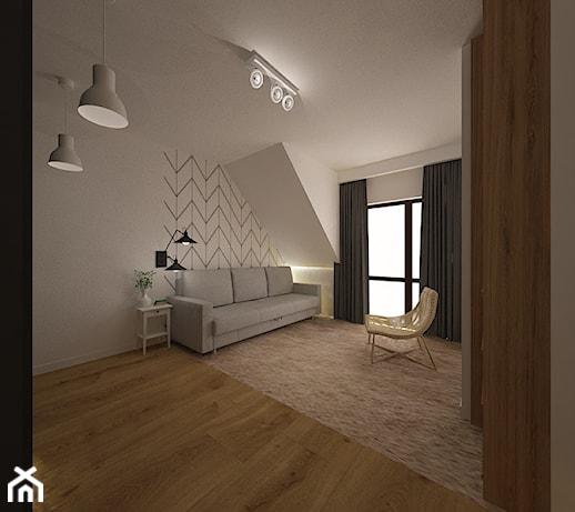 D Interiors Mała Sypialnia: Duża Szara Sypialnia Dla Gości