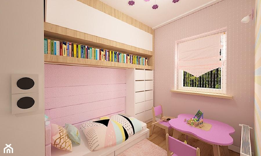 """Mieszkanie na Suwalskiej - Średnia różowa sypialnia, styl nowoczesny - zdjęcie od Pracownia Projektowa """"Interior-Art"""""""