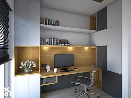 Gabinet - Średnie biuro domowe w pokoju, styl nowoczesny - zdjęcie od Schemat
