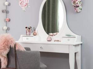Meble dla dzieci - Mały szary pokój dziecka dla dziewczynki dla ucznia dla nastolatka, styl eklektyczny - zdjęcie od Galeria Wnętrz Domar
