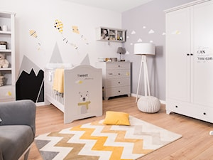 Meble dla dzieci - Średni szary pokój dziecka dla chłopca dla dziewczynki dla ucznia dla niemowlaka, styl skandynawski - zdjęcie od Galeria Wnętrz Domar