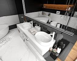 NOWOCZESNY SEGMENT - Średnia łazienka w bloku w domu jednorodzinnym bez okna, styl nowoczesny - zdjęcie od PEKA STUDIO