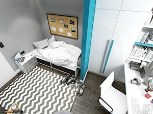 JASNE MIESZKANIE - Średni szary pokój dziecka dla chłopca dla nastolatka, styl nowoczesny - zdjęcie od PEKA STUDIO