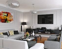ELEGANCKI PENTHOUSE - Średni salon, styl klasyczny - zdjęcie od PEKA STUDIO