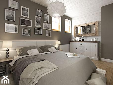 Aranżacje wnętrz - Sypialnia: PORTFOLIO - Średnia biała szara sypialnia małżeńska, styl rustykalny - PEKA STUDIO. Przeglądaj, dodawaj i zapisuj najlepsze zdjęcia, pomysły i inspiracje designerskie. W bazie mamy już prawie milion fotografii!