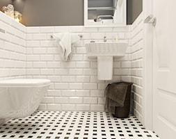 PORTFOLIO - Mała łazienka w bloku bez okna, styl klasyczny - zdjęcie od PEKA STUDIO