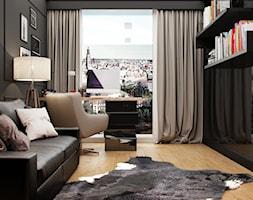 PORTFOLIO - Średnie szare biuro kącik do pracy w pokoju, styl vintage - zdjęcie od PEKA STUDIO