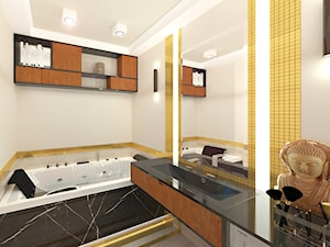 Złota łazienka - zdjęcie od architekt Karolina Radoń
