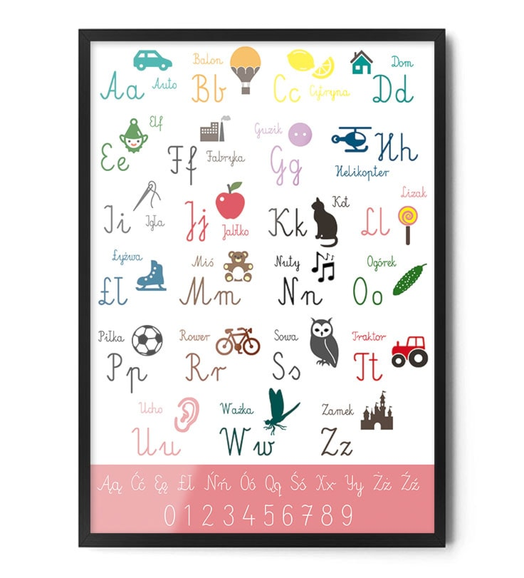 Plakat Alfabet Różowy Zdjęcie Od Fox Art Studio Homebook