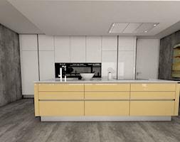 Kuchnia Biało żółta Projekt Wnętrza Mieszkalnego Prince