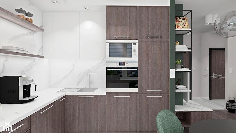 Mieszkaniewarszawa012018 Mała Otwarta Biała Kuchnia W