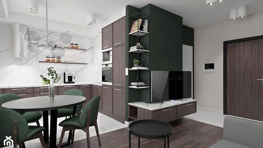 Mieszkaniewarszawa012018 Mały Biały Salon Z Kuchnią Z
